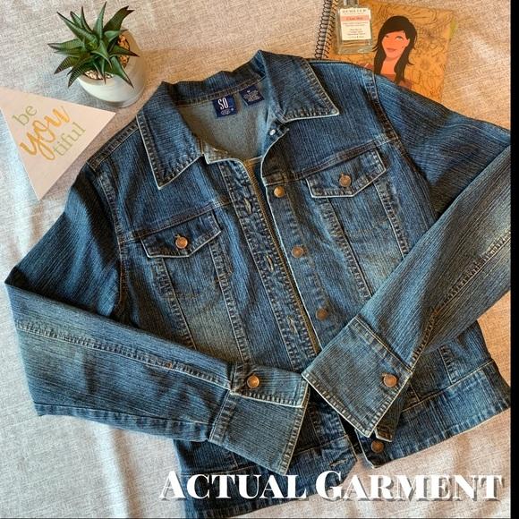 So... GSJC Jackets & Blazers - Denim Jacket / Jean Jacket w/Slight Flared Cuffs